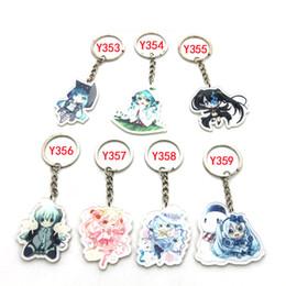 Wholesale Men Girl Beautiful - Japanesewholesale 7PCS Anime Good Smile Beautiful Hatsune Miku Figure Keychain Pendant Keyring for girls best gift