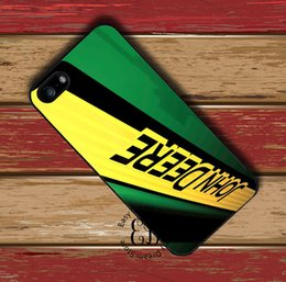 Wholesale Iphone 4s Logo Cases - Free Shipping Phone Case John Deere Tractor Logo cover Plastic Hard Back case for iPhone 4s 5s 5c 6 6s Plus iPod touch 4 5 6 Samsung s6 edge