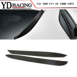 Wholesale Bmw X6 Rear - For BMW E71 X6 Spoiler 2008-2013 PU Unpainted Black Auto Rear Window Side Spoiler Wing Trim Car Style