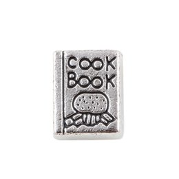 antique floating charms wholesale UK - 20pcs lot Free shipping Antique Tibetan Silver Charms Cook Book For Floating Living Memory Locket