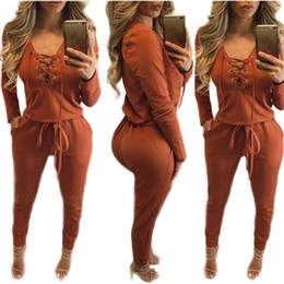 Wholesale Bodywear Women - Wholesale- 2016 Hot Sale Women New Fashion Sexy Winter Vestidos Jumpsuits Clubwear Party Bodycon Bandage ROMPER Bodysuits Bodywear catsuit