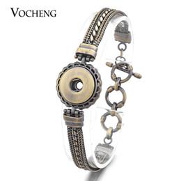 Wholesale Antique Easter - VOCHENG NOOSA Ginger Snap Bracelet 2 Colors 18mm Button Antique Multi Chain NN-450