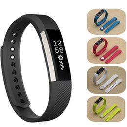 Wholesale White Silicon Wrist Watch - High Quality 2016 New Replacement Wrist Band Silicon Strap Clasp For Fitbit Alta Smart Watch Bracelet Full Color DHL Free OTH224
