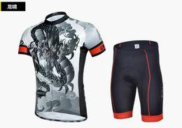 Wholesale Dragon Cycle Set - New cycling jerseys short-sleeve riding jersey sets (T-shirt+short) dragon Anti UV breathable quick dry free-shipping