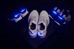 Wholesale Usb Light Shoes - Hot sale Air Mag HyperAdap1.0 civilians version of the future light shoes MT2 USB charging light shoes with box and bags 4color 36-45