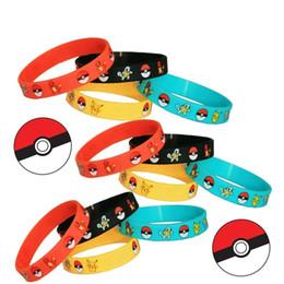 Wholesale Elf Silicone - Fashion Unisex Poke Elf Ball Pikachu Bracelets Silicone Women Men Girls Children Bracelets Gifts GD-C02-1