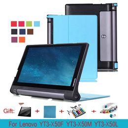 "Wholesale Lenovo Yoga Cover - Ultra Slim Karst Folio Leather Case Protective Skin Cover For Lenovo YOGA Tab3 10 YT3-X50M X50F X50L 10.1"" inch Tablet PC"