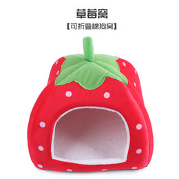 Wholesale Dog Kennel Wood - Fun Pet Strawberry Dog House Yurt Kennel