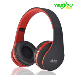 Wholesale Wireless Bluetooth Headphones Stereo Foldable - NX-8252 Bluetooth Earphone wireless Foldable Headphones headset sports running stereo V3.0+EDR for iPhone phone computer and adapter