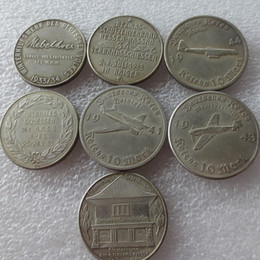 Wholesale Germany Wholesale - Germany Commemorative Coins 1933 -1960 different dates 16pcs Copy Coins Brass Craft Ornaments