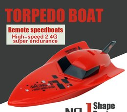 Wholesale New Rc Boat Brand - Wholesale- 100% brand new and high quality RC Boat 4CH High Powered Speed Boat 2.4G 2.4V RC Boats Plastic Outdoor Door Kid