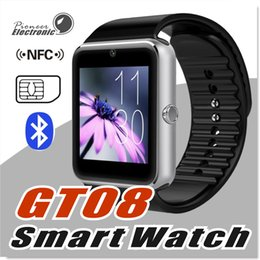 Wholesale Ios Compatible - GT08 Smart Watch Wristband Bluetooth Bracelet With Pedometer Camera Monitoring Sleep Sedentary Reminder Compatible Platform Android IOS