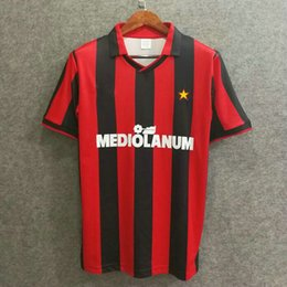 1f116c51379 Classic milan1991 1992 retro soccer jerseys football shirts top quality  soccer clothing custom name number Velvet font top aaa quaity. Supplier   welchli
