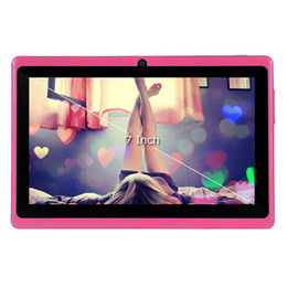 Hd multi-touch tablet online-Doppio tablet da 7 pollici PC Q88 512MB / 4G Android 4.4 batteria da 3000mAh WiFi Quad Core 1.2GHz Android HD IPS