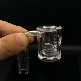 Wholesale Pure Dab - X Quartz Banger Nail Reactor Slits Pure Quartz Flat Bowl Domeless Grail Quartz Banger Nails Club Quave For Oil Dab Rig