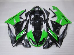 Wholesale Kawasaki 636 Fairings Set - 3 Free gifts New Motorcycle Fairing kit 100% Fit for KAWASAKI Ninja ZX6R 636 2009 2010 2011 2012 09 10 11 12 6R Bodywork set green black USA
