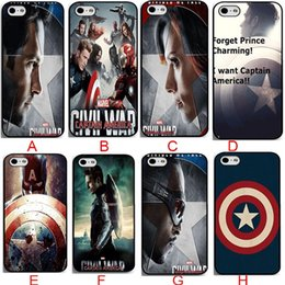 Wholesale Cool Cover Cases 4s - New Super Hero Captain America Coolest Black Hard Plastic Mobile Protective Phone Case Cover For iphone 4 4s 5 5s 5c 6 6s plus Phone case