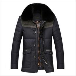Wholesale Mens Black White Scarves - Fall-2016 New Brand Men Winter Duck Down Jacket Mens Coat Parkas With Fox Fur Collar Patchwork Jackets Cappotto Plus Size HZ650