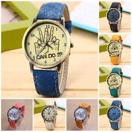 2019 pin de color falso Relojes para mujeres 2016 9 colores retro color nuevos hombres Relojes de cuarzo números Faux men Horas reloj Casual Leather watch pin de color falso baratos