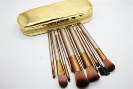 Wholesale Makeup Brushes 12 Pieces - NEW Nude Makeup Brushes Nude 12 pieces Professional Brush sets Gold package or Black Package Free DHL