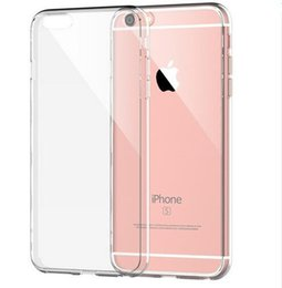 Wholesale Transparent Cellphone Cases - 2016 New hot sale soft TPU transparent mobile case protection cellphone cover crystal clear for iPhone