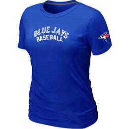 Wholesale Cheap Cotton Tees - Cheap Toronto Blue Jays Women Baseball T Shirt Short Sleeve Practice T-shirt wholesale Cotton Blue Jays Tees Shirts 14 Colors