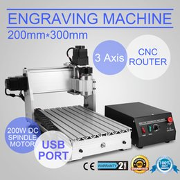 Wholesale Drilling Wood - 3 AXIS 3020T USB CNC ROUTER ENGRAVER CUTTING stone wood engraving machine CNC USB 3020T Router Engraver Engraving Drilling and Milling item