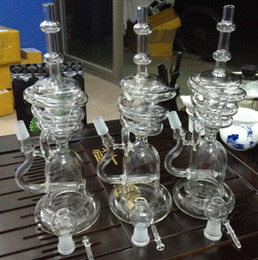 Wholesale Hot Awesome - 2016 hot awesome triple cyclone recycler inline glass Bongs arms heady dab oil rigs gear perc water pipes bowl quartz banger vortex recycler