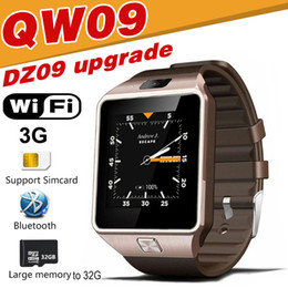 Wholesale Business For Home - QW09 smart watches DZ09 android upgrade WIFI card positioning of 3G call 5 million camera waterproof stainless steel shell business watch
