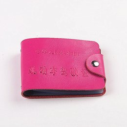 Wholesale Drive Document - Factory-made leather driver's license driving license folder with documents package sets a driver's license may be set LOGO