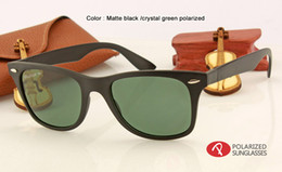 Wholesale Light Brown Frame Glasses - men women brand designer retro polairzed sunglasses black brown gradient driving polarizing sun glasses best quality light material