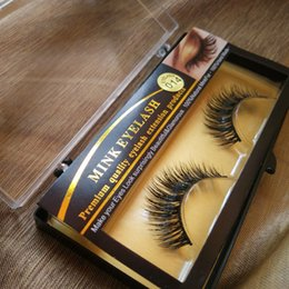 Wholesale Lashes Extension - Makeup Mink Eyelash False Fake Eyelashes Handmade Natural Long Thick 100% Real Mink Natural ThickEye Lashes Extension 2018 Premium Quality