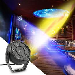 Wholesale Super Bright Led Strobe - Mini 18W 6LEDs RGB Stage Effect LED Par Light Energy Saving Super Bright Portable Sound Sensored for Disco KTV Club Party DJ