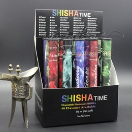 Wholesale Disposable Cigarette Shisha - Shisha Time E Hookah Disposable Cigarette 500 Puffs Purest 30 flavors Vape Pen Wholesale E SHISHA HOOKAH PEN DHL FREE