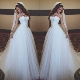 Wholesale Wedding Winter Wrap Veil - Cheap Wedding Dresses Bridal Gowns 2016 New Arrival Sweetheart A Line Princess Winter Spring Wedding Gowns Free Gift Veil