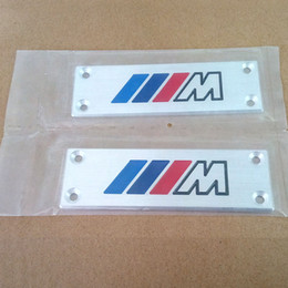 Wholesale Mats For Cars - Styling M Logo Car Floor Mat Badge Auto Carpet Emblem for BMW X3 X5 X6 3 5 7 Series F30 F10 E46 E90
