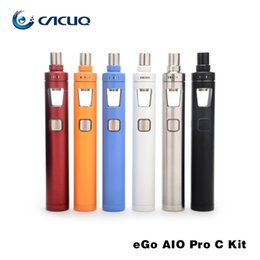 Wholesale Joyetech Ego C Wholesale - Joyetech eGo AIO Pro C Starter Kit 4ml Capacity Innovative Anti-leaking Child Lock All in one Kit 100% Original ecig