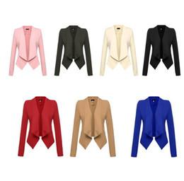 Wholesale Women Blazers Wholesale - WOMEN Business Suit Coat Jacket Blazer Tops Ladies Business Coats Office OL Jackets Casual Blouse TOPS KKA2734