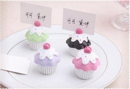 Wholesale Names Baby - Cake shaped place card holder Baby shower souvenirs weding favors wedding decoration centerpieces Name and table number