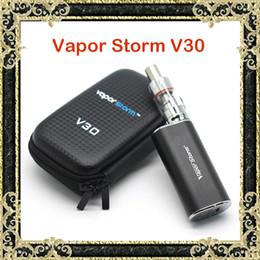 Wholesale Metal Taste - Authentic Vapor Storm V30 E Cigarettes VApe Mod Kits 7-30W 2.5V-8.5V EC Glass Tank Atomizer Box Zipper Case Kit Pure Taste