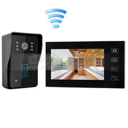 Wholesale Wireless Intercom Systems Camera Home - Wireless 7 Inch Video Door Phone Video Intercom Doorbell Touch Camera with RFID Reader for Home Security System