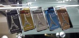 Wholesale La Iphone Cases - New 3D Stereo La Tour Eiffel Tower Paris Design Aluminum Alloy Metal Case Fashion Hard Cover Skin For iPhone 5 5S iPhone 6 Plus