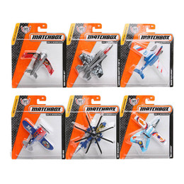 Wholesale Fighter Jet Models - Authorized sales Matchbox Aircraft Model mini kids toys Plastic metal miniatures Fighter Plane Helicopter Model Toys