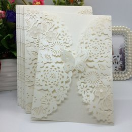 Wholesale Wholesale Envelopes For Wedding Invitations - 40Pcs Delicate Carved Butterlies Romantic Wedding Party Invitation Card Envelope Invitations for Wedding Business Party Birthday