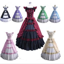 Wholesale Victorian Halloween Ball Gown - (GT003) short Sleeve Gothic Victorian Lolita Prom Dress Ball Gown Fancy Dress Halloween Party Costume S M L XL XXL