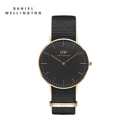 Wholesale Top Branded Ladies Watches - 2017 top luxury brand Daniel ladies hands watch fashion nylon style black 40mm rose gold men watch with gifts relojes