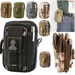 Wholesale Running Phone Belt - Universal Outdoor Tactical Holster Military Waist Belt Bag Sport Running Mobile Phone Case Cover Molle Pack Purse Pouch Wallet For iphone 8
