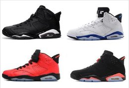 Wholesale Free Delivery Shoes - Hot Retro 6 Basketball Shoes Women Men Sneakers 2016 Retros Shoes 6s VI Authentic Replica maroon black infrared Free Delivery