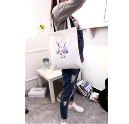Wholesale Handbag Summer Folding - Fashion Printed Women Canvas Shopping Bags Shopper Tote Zipper Shoulder Versatile Sack Summer Holiday Beach Handbag