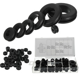 Wholesale Retaining Ring Tool - 180pc Rubber Grommets Retaining Ring Set Blanking Hole Wiring Cable Gasket Kits Hardware Tools